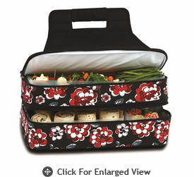 Picnic Plus Entertainer Hot & Cold Food Carrier  Red Carnation