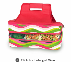 Picnic Plus Entertainer Hot & Cold Food Carrier Wavy Watermelon