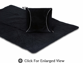Picnic Plus Fleece Blanket Cushion Black