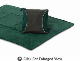 Picnic Plus Fleece Blanket Cushion Green