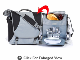 Picnic Plus Flex 2 Person Picnic Set  Black Steel
