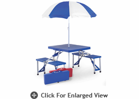 Picnic Plus Folding Table w/ Umbrella