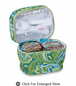 Picnic Plus Ice Cream Carrier Green Paisley