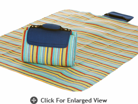 Picnic Plus Large Mega Mat Blue Berry Stripe