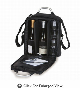 Picnic Plus Magellan Wine & Cheese Tote Black