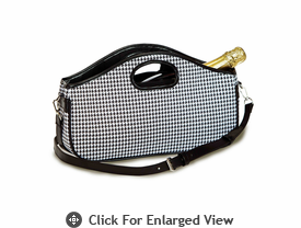Picnic Plus Nola Wine Clutch Houndstooth