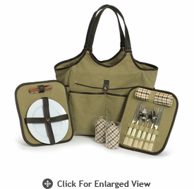 Picnic Plus Palmetto 2 Person Picnic Tote Olive