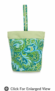 Picnic Plus Razz Lunch Tote  Green Paisley