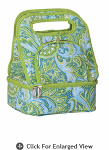Picnic Plus Savoy Lunch Bag Green Paisley