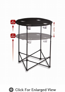 Picnic Plus Scrimmage Tailgate Table  Black