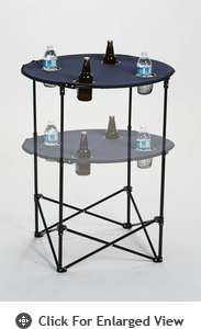 Picnic Plus Scrimmage Tailgate Table  Navy Blue