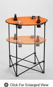 Picnic Plus Scrimmage Tailgate Table  Orange