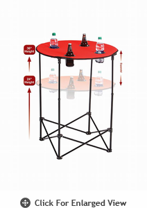 Picnic Plus Scrimmage Tailgate Table  Red