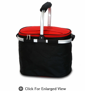 Picnic Plus Shelby Collapsible Market Tote Black Red