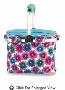 Picnic Plus Shelby Collapsible Market Tote  Blue Blossom