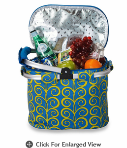 Picnic Plus Shelby Collapsible Market Tote Curlee Blue