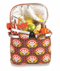 Picnic Plus Shelby Collapsible Market Tote  Orange Martini