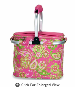 Picnic Plus Shelby Collapsible Market Tote Pink Desire
