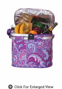 Picnic Plus Shelby Collapsible Market Tote Purple Envy
