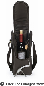 Picnic Plus Single Bottle Carrier Espresso