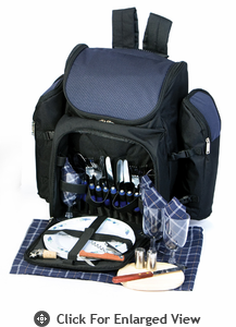 Picnic Plus Tandoor 4 Person Picnic Backpack Navy