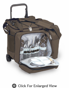 Picnic Plus Tango Trolly 2 Person Picnic Tote on Wheels Brown