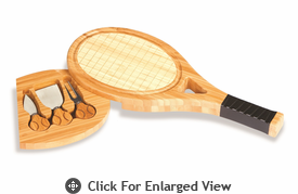 Picnic Plus Tennis Racquet Shape Cheese Board