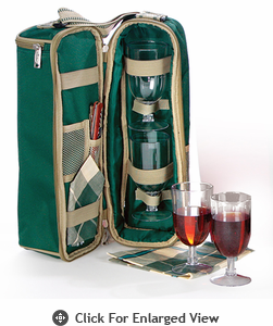 Picnic Plus Wine Duffle Green