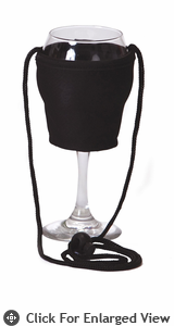 Picnic Plus Wine Glass Lanyard Black Set of 2