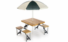 Picnic Plus Wood Folding Picnic Table w/ Umbrella