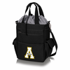 Picnic Time Activo Cooler Tote  Appalachian State Mountaineers Black w/ Grey