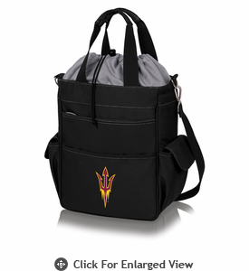 Picnic Time Activo Cooler Tote  Arizona State Sun Devils Black w/ Grey