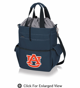 Picnic Time Activo Cooler Tote  Auburn University Tigers Navy Blue