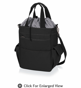 Picnic Time Activo Cooler Tote Black w/ Grey