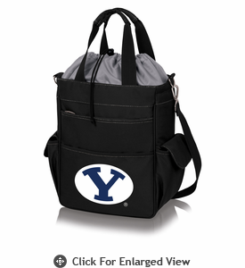 Picnic Time Activo Cooler Tote  BYU Cougars Black w/ Grey