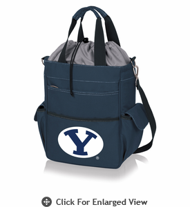 Picnic Time Activo Cooler Tote  BYU Cougars Navy Blue