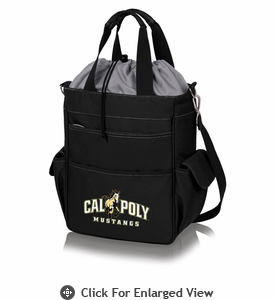 Picnic Time Activo Cooler Tote  Cal Poly Mustangs Black w/ Grey