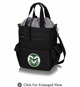 Picnic Time Activo Cooler Tote  Colorado State Rams Black w/ Grey