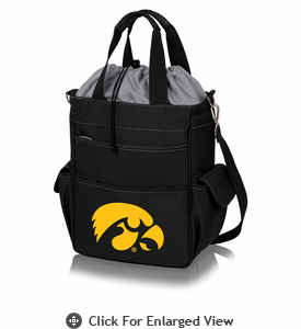 Picnic Time Activo Cooler Tote  Iowa Hawkeyes - Black w/ Grey