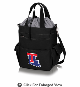 Picnic Time Activo Cooler Tote  Louisiana Tech Bulldogs Black w/ Grey