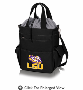 Picnic Time Activo Cooler Tote  LSU Tigers Black w/ Grey