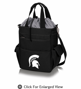 Picnic Time Activo Cooler Tote  Michigan State Spartans Black w/ Grey