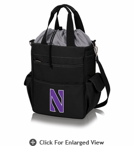 Picnic Time Activo Cooler Tote  Northwestern University Wildcats Black w/ Grey