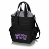 Picnic Time Activo Cooler Tote  Texas Christian Horned Frogs Black w/ Grey