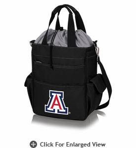 Picnic Time Activo Cooler Tote  University of Arizona Wildcats Black w/ Grey
