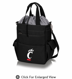 Picnic Time Activo Cooler Tote  University of Cincinnati Bearcats Black w/ Grey