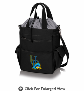 Picnic Time Activo Cooler Tote  University of Delaware Blue Hens Black w/ Grey