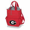 Picnic Time Activo Cooler Tote  University of Georgia Bulldogs Red