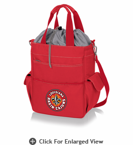 Picnic Time Activo Cooler Tote  University of Louisiana Lafayette Ragin Cajuns Red