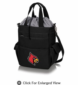 Picnic Time Activo Cooler Tote  University of Louisville Black w/ Grey